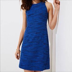 NWT Ann Taylor Loft Spacedye Blue Shift Dress